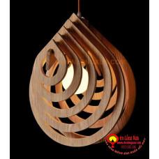 Đèn gỗ hình lá