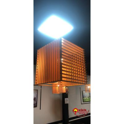 Đèn gỗ hình vuông