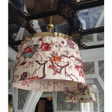Đèn lồng sắt thả trần kiểu vải hoa