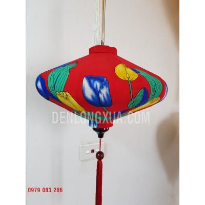 Đèn Lồng Đĩa Bay Vải Hoa