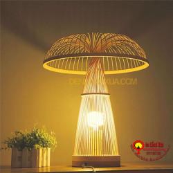 đèn tre để bàn kiểu ô