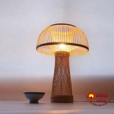đèn tre để bàn kiểu cây nấm