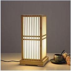 đèn tre để bàn kiều khối vuông M002