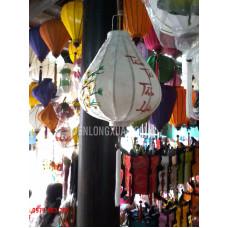 Đèn lồng tỏi ngược thêu hoa và chữ Tấn Tài Tấn Lộc