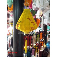 Đèn lồng Kim Cương thêu hoa và chữ Tấn Tài Tấn Lộc