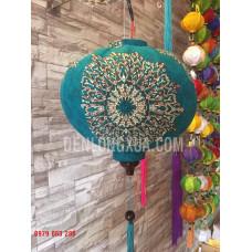 Đèn lồng tròn vải hoa kiểu MX2