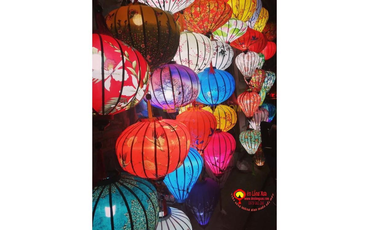 Thế giới đèn lồng vải trang trí với nhiều màu sắc