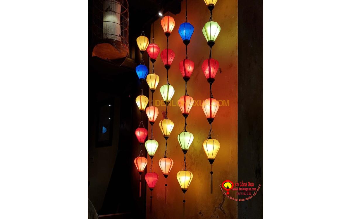 Đèn lồng trang trí thả tường cho nhà hàng cafe