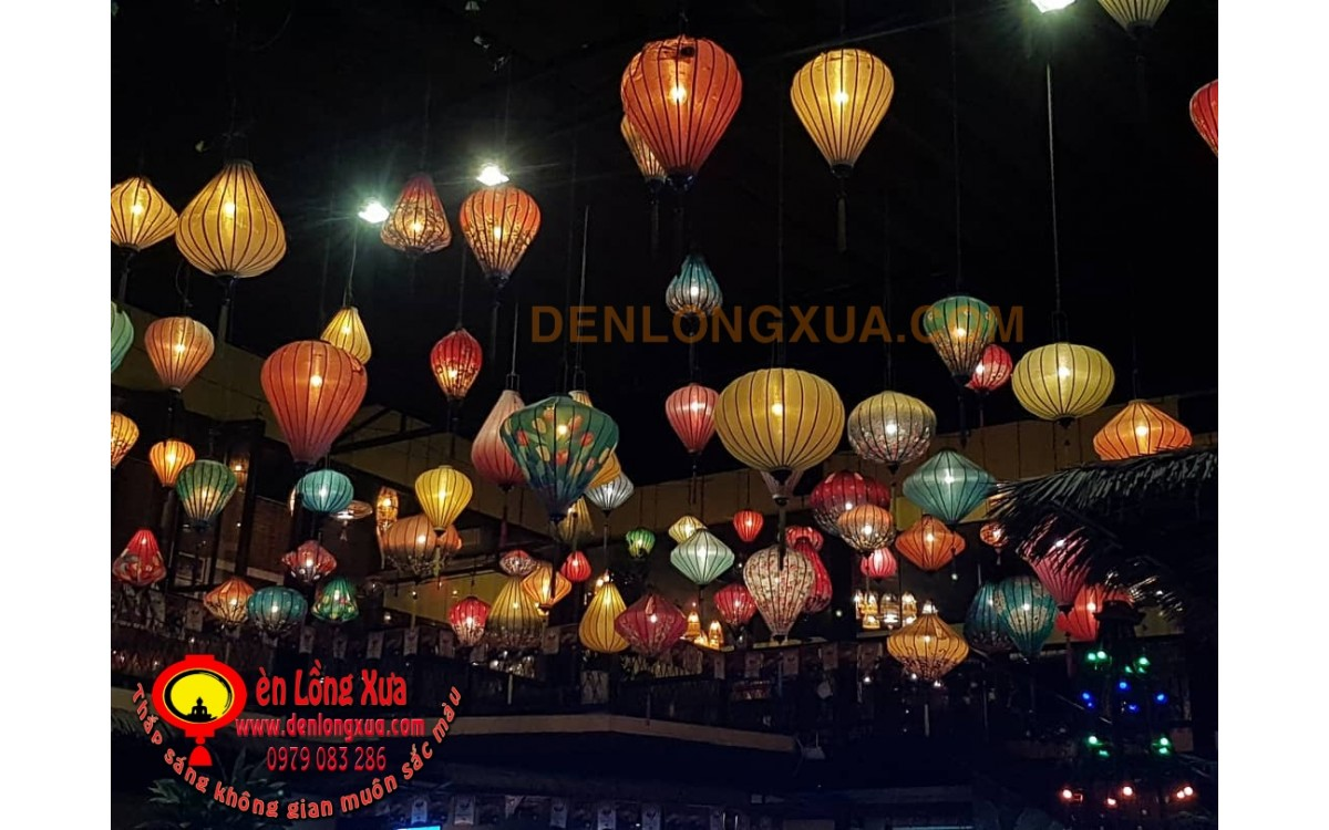 Thế giới đèn lồng trang trí thả trần nhà hàng