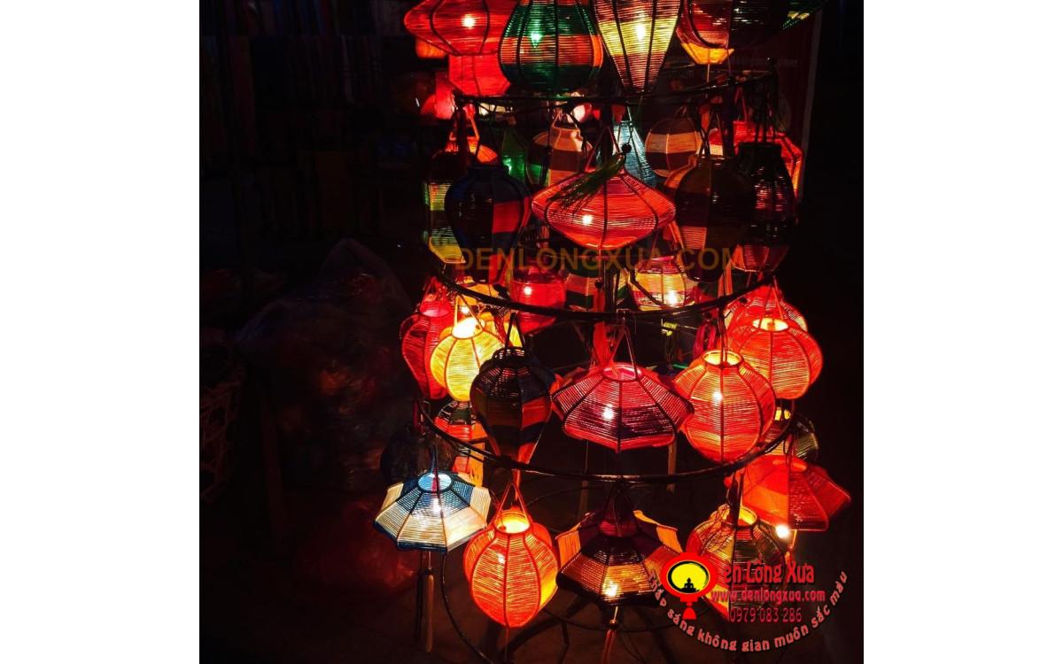 Đèn dây đan sắc màu trang trí cho không gian nội thất