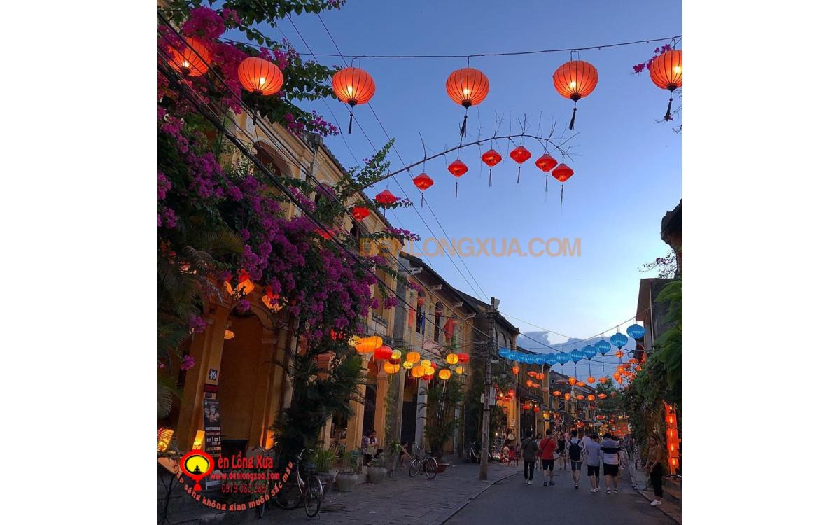 Sắc đèn lồng trong trang trí đường phố