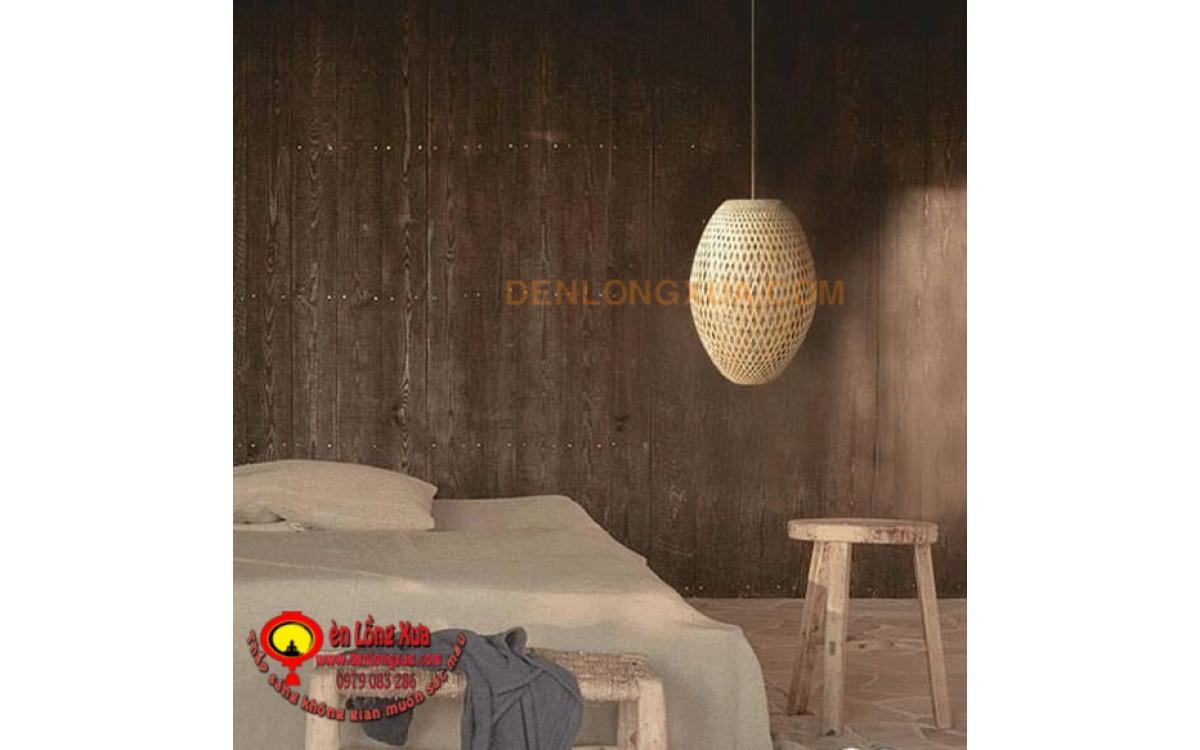 Đèn trụ tre cho trang trí phòng ngủ