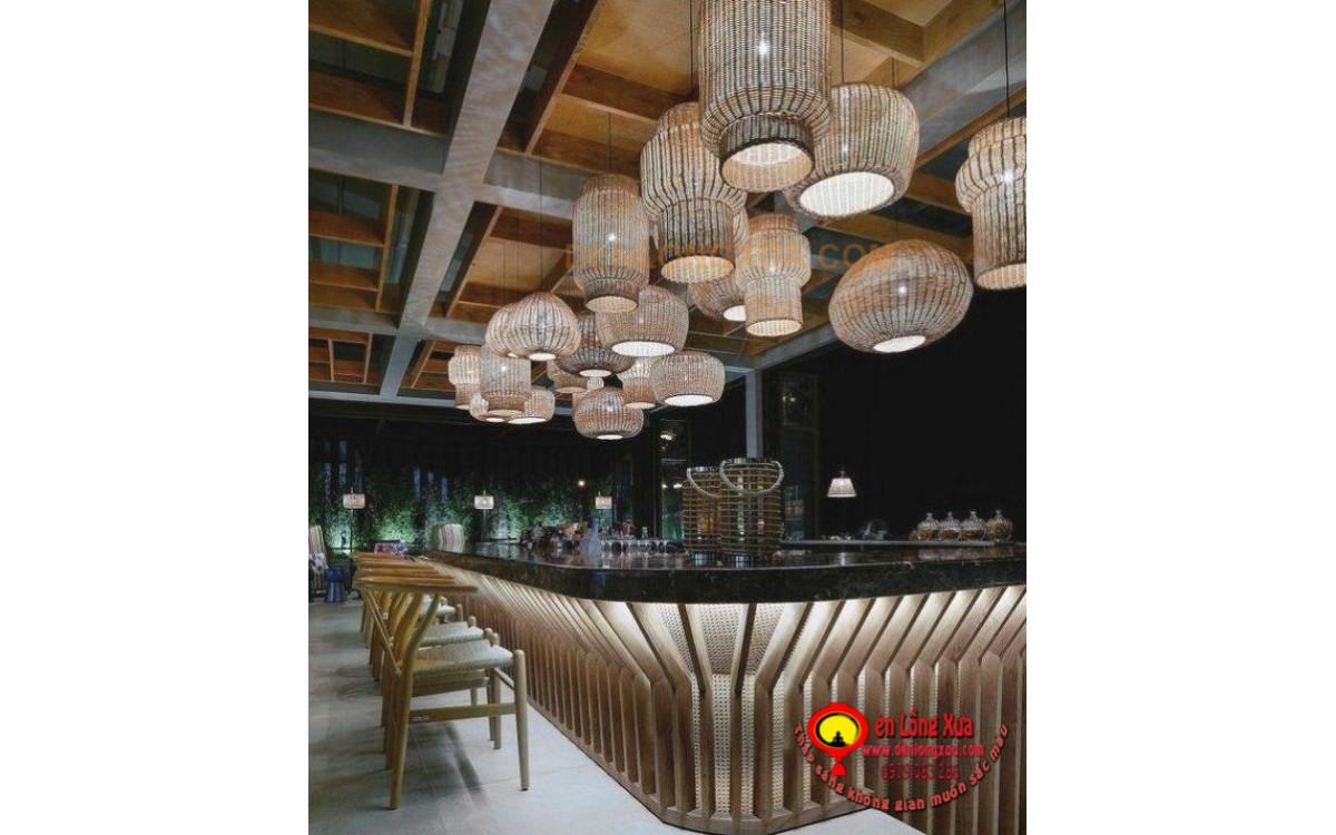 Chùm đèn mây trang trí thả trần cho quán bar