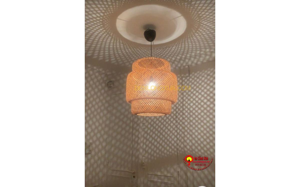 Đèn tre thả trang trí trần nhà