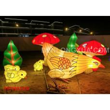 Đèn lồng cớ lớn mô hình đàn gà