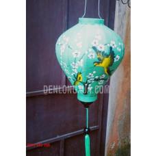 Đèn lồng tỏi vẽ chim hoa